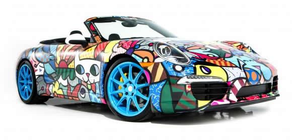 Romeo Britto Porsche 911 Cabriolet