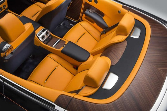 Rolls-Royce Dawn back seats